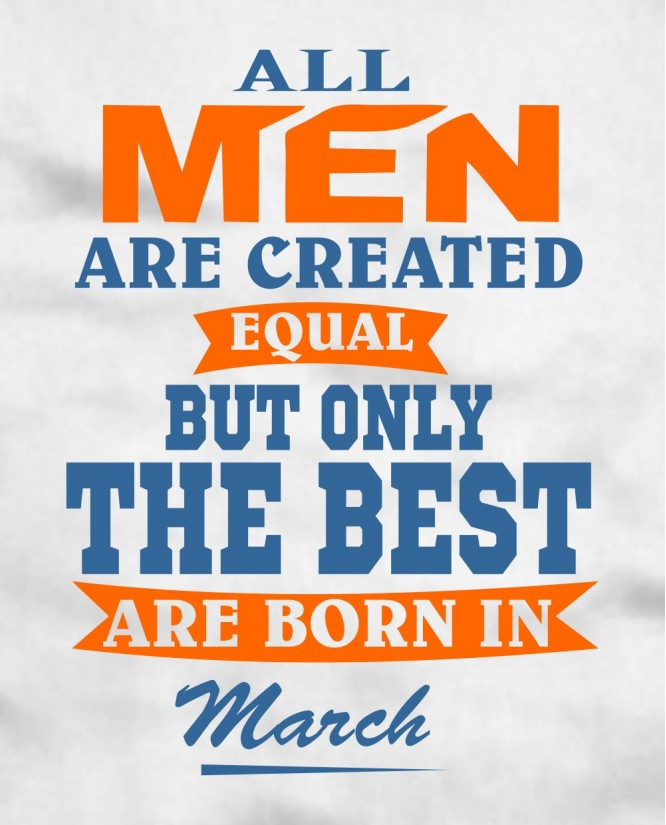 All men March