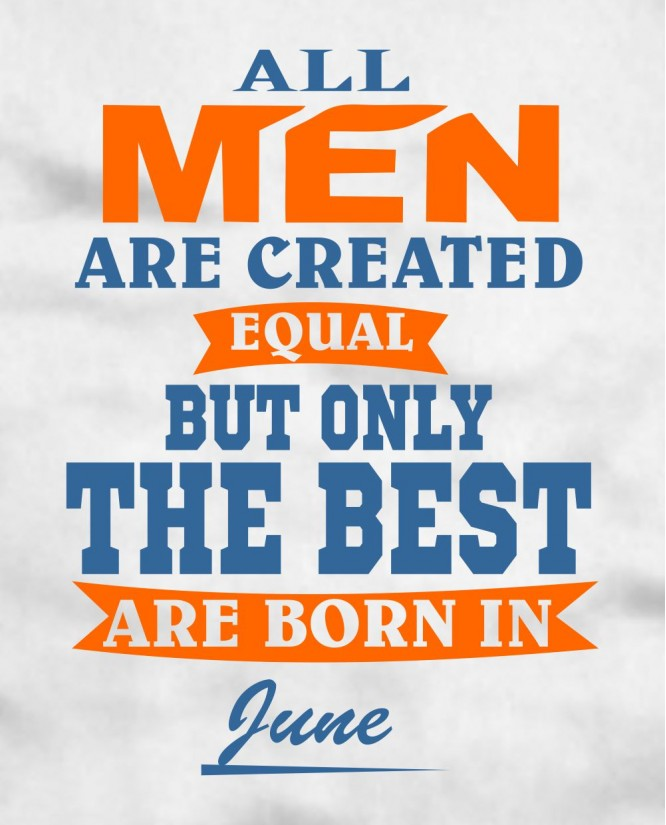 All men June