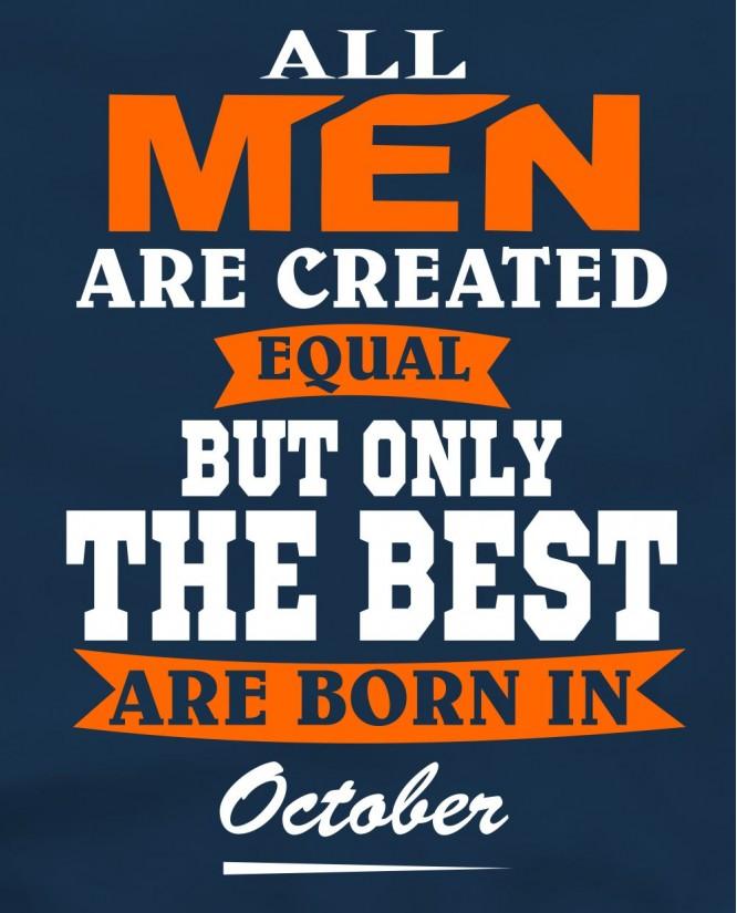 All men in October