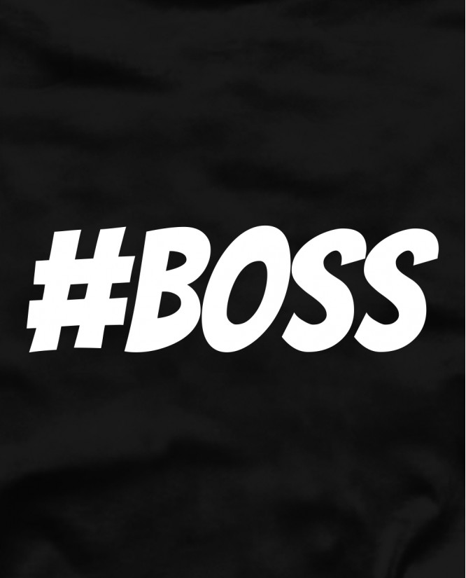 Hashtag boss marškinėliai