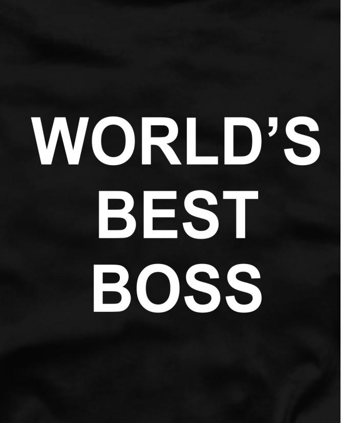 Worlds best boss marškinėliai