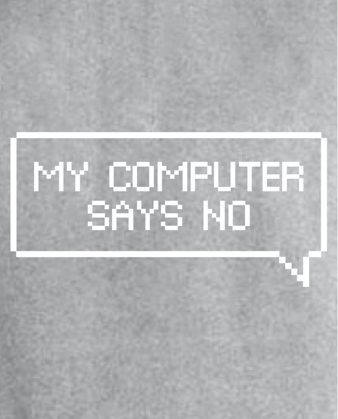 my computer says no