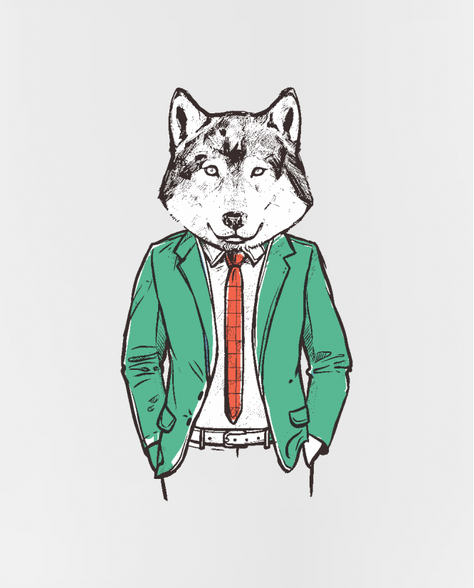 puodelis  Hipster wolf