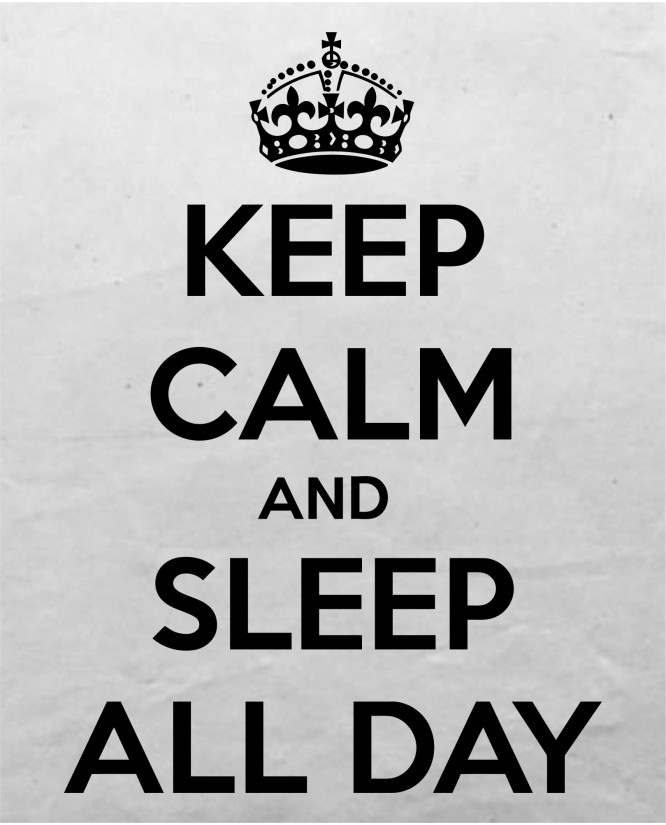 Keep sleep all day