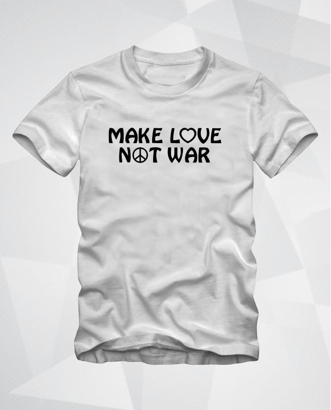 Make love not war symbol